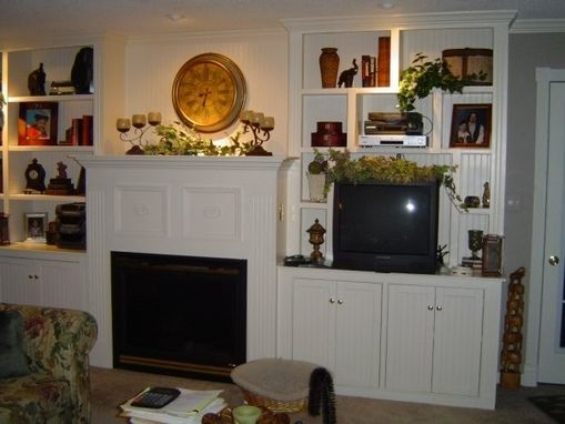 Custom Made Custom Library With Mantle