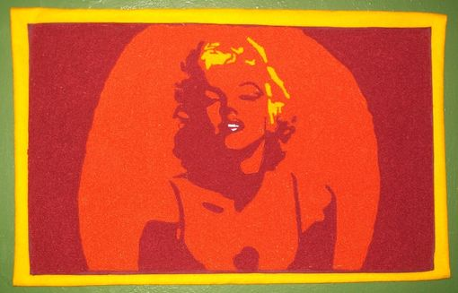 Custom Made Marilyn Monroe Chenille Wall Hanging