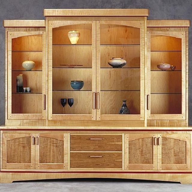 Hand Made Radius Showcase by Anthony Kahn Furniture | CustomMade.com