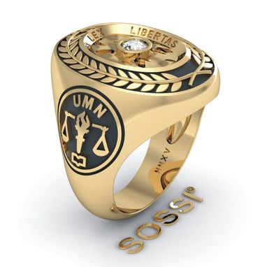 Custom Made Best Hand Crafted 14k Class Ring And Logo Ring Design