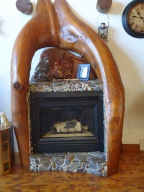 Custom Made Log Fire Place