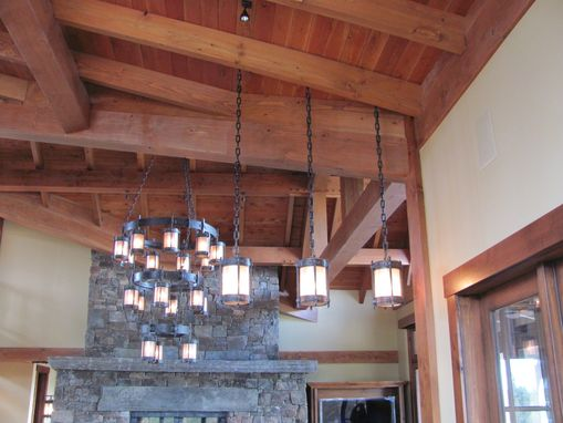 Custom Made Hand Forged Chandeliers, Lanterns And Drum Lights