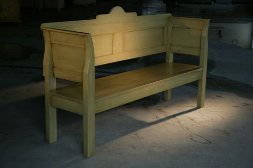 Custom Made Light Colored European Chapel Bench