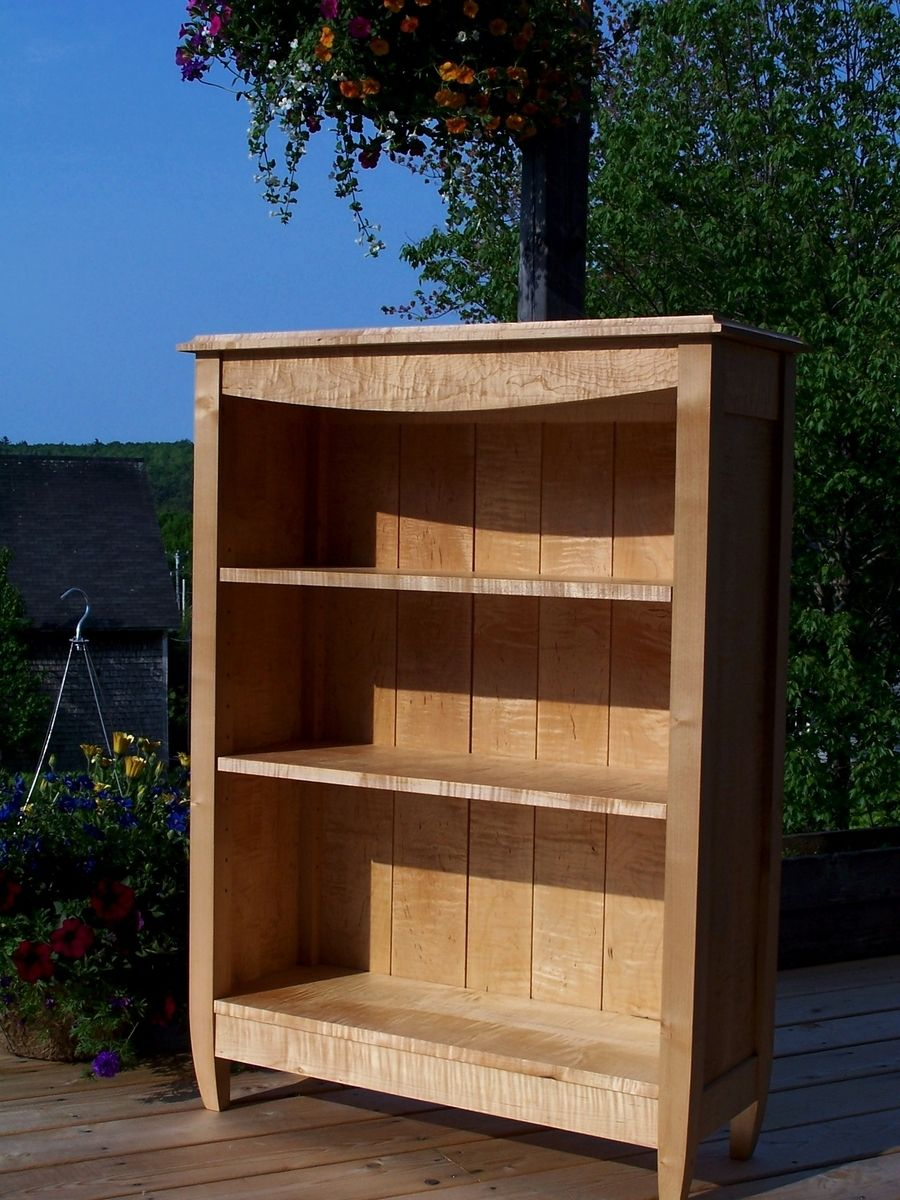 Handmade Tiger Maple Bookcase By Blue Hill Cabinet Amp Woodwork Custommade Com