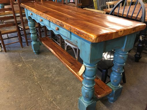 Custom Made Antique Heart Pine Kitchen Island