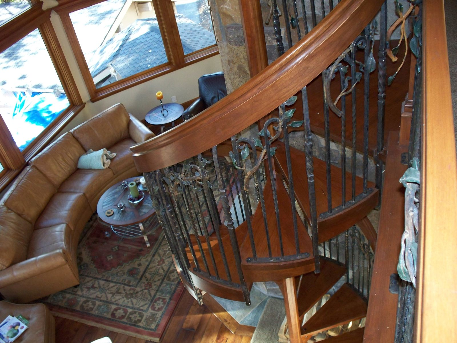Hand Made Melting Iron Amp Wood Into A Spiral Staircase By