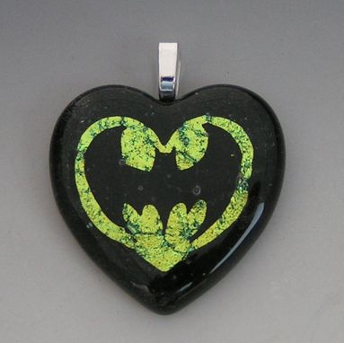 Custom Made Batman Heart Necklace