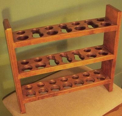 Custom Made Chestnut 14 Piece Pipe Rack