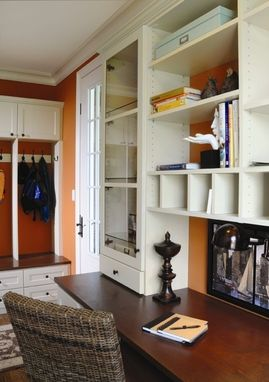 Custom Made Mud Room Lockers And Home Office