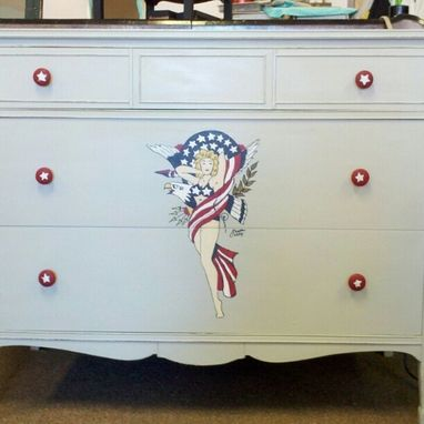 Custom Made Custom Painted Artwork Dresser Furniture