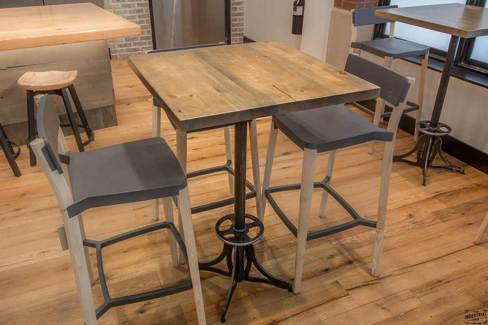 Custom Bistro Table Base Cafe Reclaimed Wood Steel By Real Edge Furniture Llc Custommade