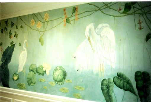 Custom Made Florida Wetlands Mural