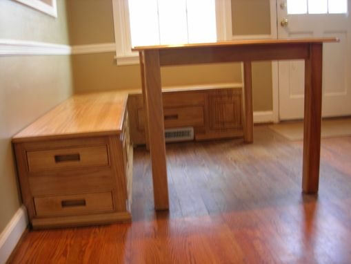 Custom Made Convertible Table And Bench Set