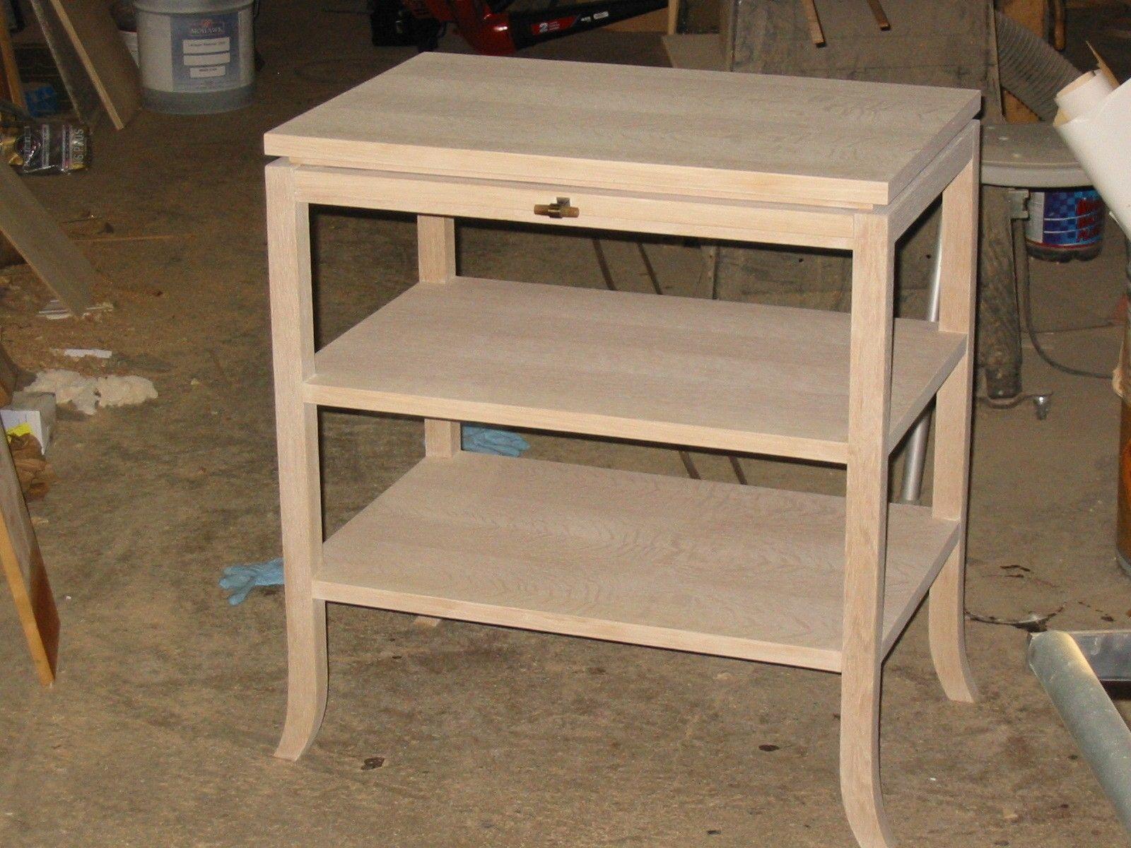 White Oak Furniture ~ Custom made white oak desk by wise furniture manufacturing
