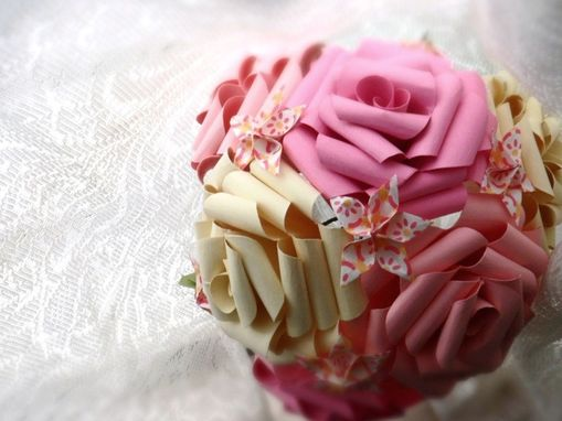 Custom Made Blushing Roses Paper Flower Bouquet