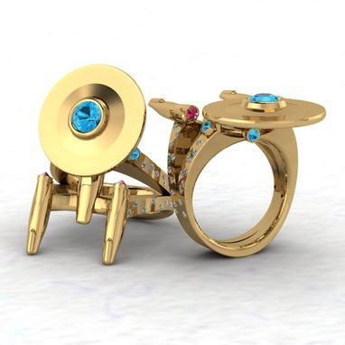Custom Made Custom Designed Ring For That Star Trek Fan In Your Life!