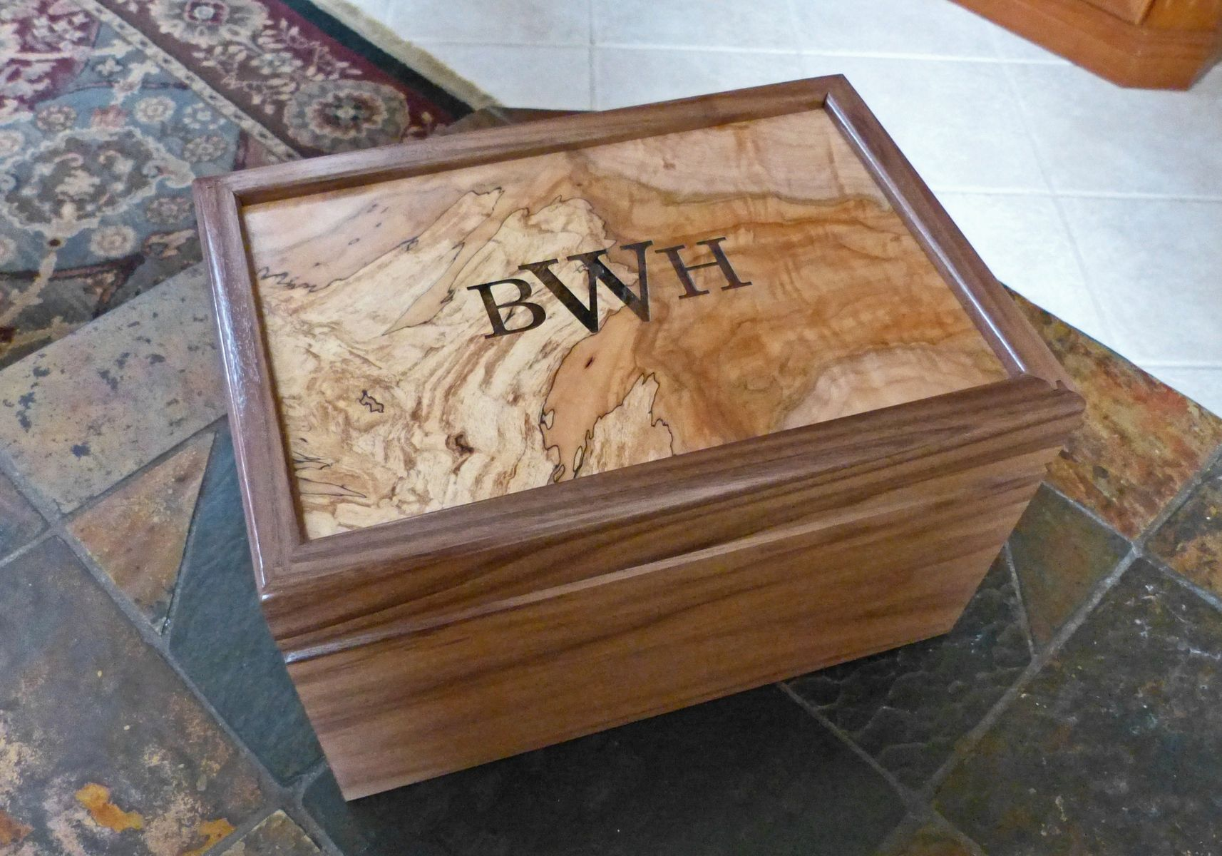 Hand Crafted Custom Humidor Walnut Spalted Maple By