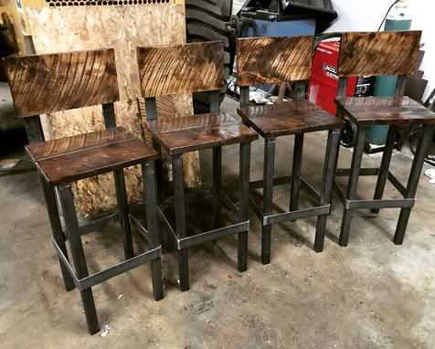 Custom Made Industrial Bar Stool (Square)