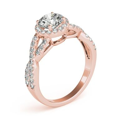 Custom Made 1.50ct Diamond Infinity Twisted Halo Engagement Ring 14k Gold