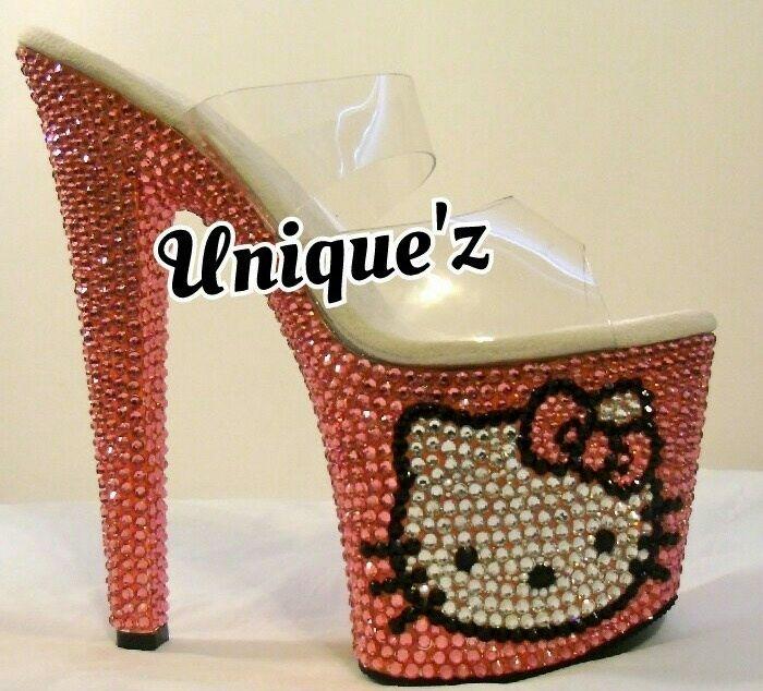 d2db2f5aa99 Buy Custom Made Hello Kitty Rhinestoned Platform Heels, made to ...