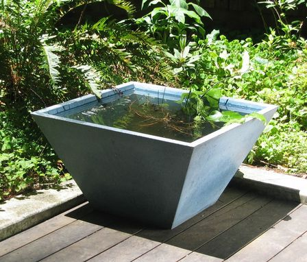 Custom Made Inverted Pyramid Vessel Or Planter