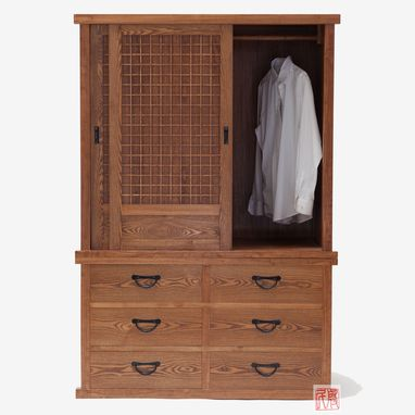 Custom Made Tansu Style Armoire
