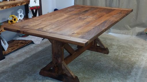 Custom Made Rustic Trestle Table