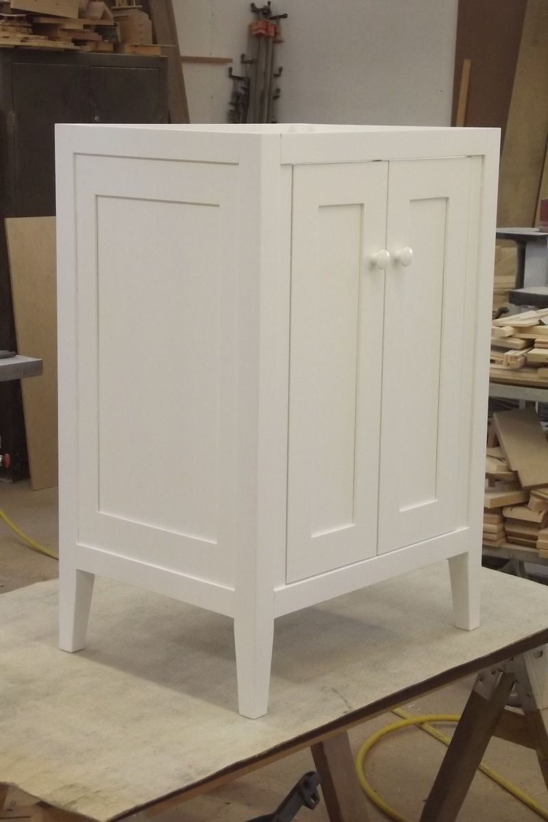 Handmade Warm White Lacquered Shaker Vanity By Ziegler Woodwork And Specialty Custommade Com