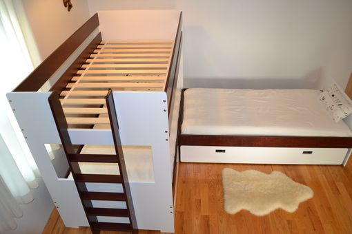 Custom Made L-Shaped Bunk Bed Combination