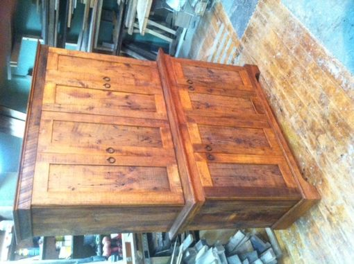 Custom Made Reclaimed Antique Wood Media/Entertainment Center