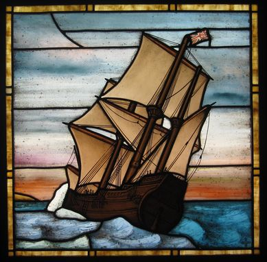 Custom Made Mayflower Stained Glass