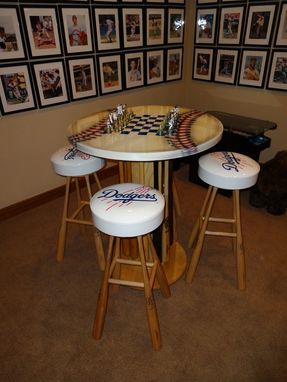 Custom Ultimate Baseball Man Cave Table By Vail Custom