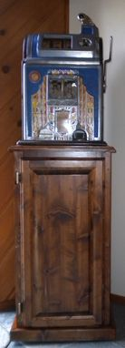 Custom Made Antique Slot Machine Stand