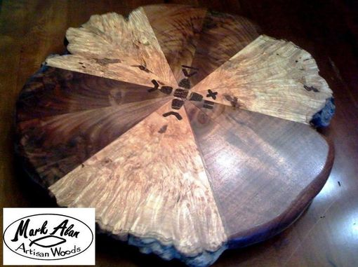 "Custom Made 22"" Lazy Susan With Inlay"
