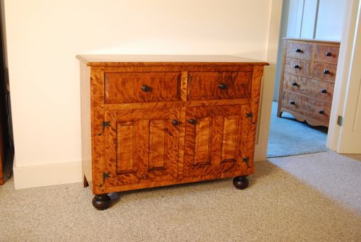 Custom Made Flame Birch Sideboard
