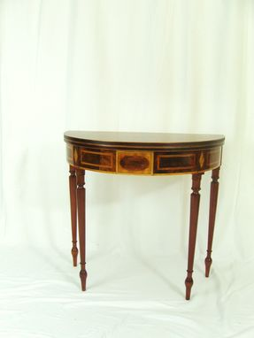 Custom Made Mahogany Card Table