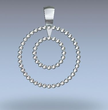 Custom Made 14kt White Gold Pendant With .60cttw Diamond.
