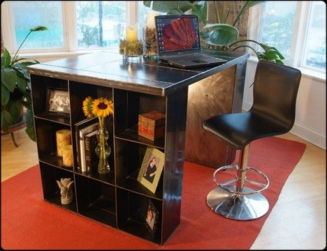 Custom Made Conver-Table Steel Desk