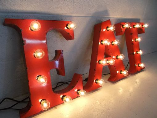Custom Made Metal Letter Any One 18 Inch Steel Letters Light Fixture Sign Lighting