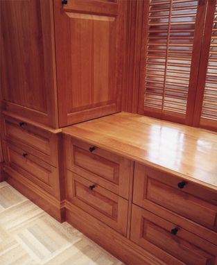 Custom Made Adirondack Sustainable Cherry Dressing Room In Greenwich, Ct