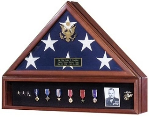 Custom Made Presidential Flag Case And Medal Display Case