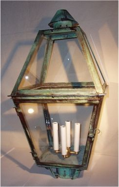 "Custom Made Solid Copper Post Lantern ""Boston Style"""