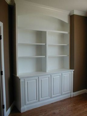 Custom Made Built In Bookcase And Cabinets