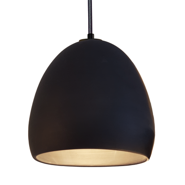 Hand Made Porcelain Ceramic Black Clay Pendant Light By