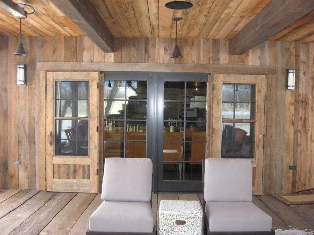 Hand made reclaimed wood screen doors by tom s custom