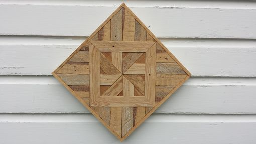Custom Made Rustic Reclaimed Lath Pinwheel Wall Art