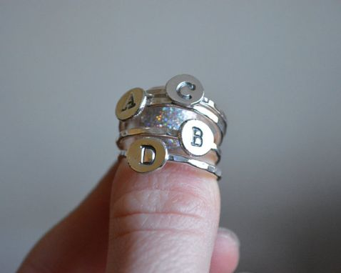 Custom Made Initial Stacking Ring