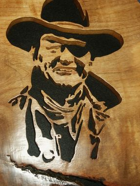 Custom Made Wood Craving Of Rooster Cogburn