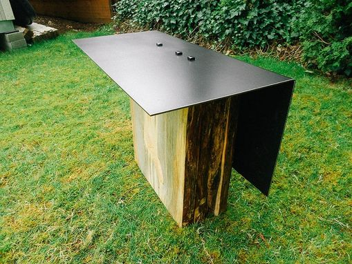 Custom Made Bent Steel Side Table