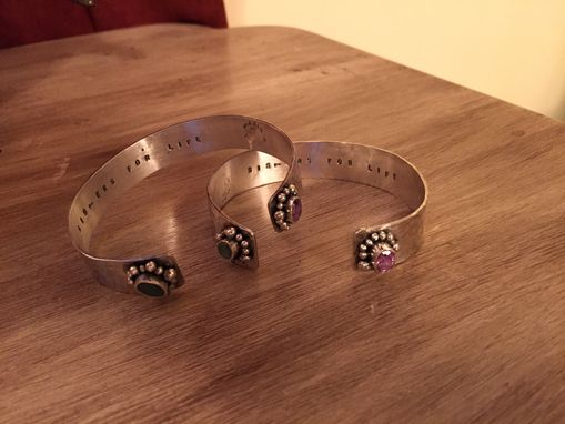Custom Made Sisters For Life Cuff Bracelet